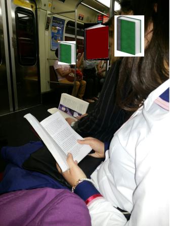 Leitura dupla na linha vermelha do metro de SP!