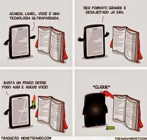 Livro vs. tablet