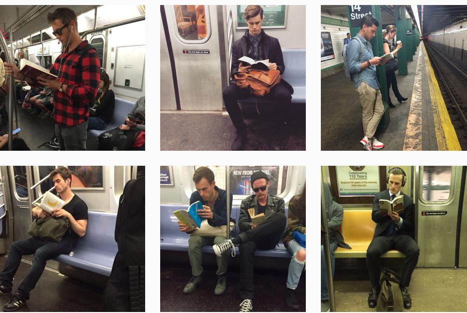 Resultado de imagem para lendo no metro